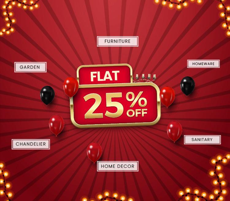 Flat 25% OFF